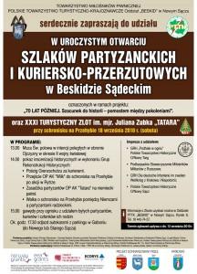 Otwarcie Szlaków Partyzanckich i Kuriersko-Przerzutowych