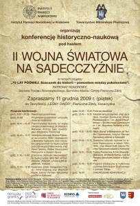 Konferencja II wojna światowa na Sądecczyźnie