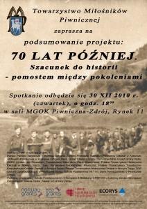 Podsumowanie projektu 70 lat później